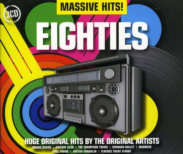 VARIOUS - Massive Hits! Eighties - CD x 3