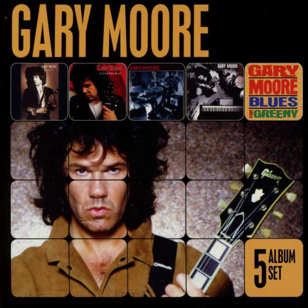 GARY MOORE - 5 Album Set (run For Cover+after The War+still Got The Blues+after Hours+blues For Greeny)