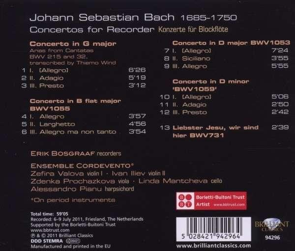 Bach: transcriptions diverses 5028421942964