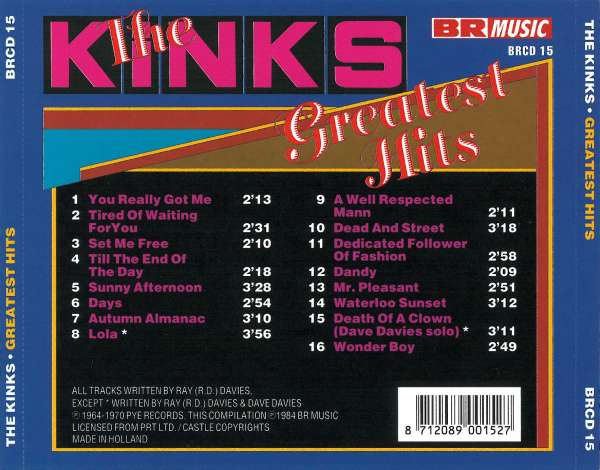 The Kinks Greatest Hits Cd Jpc