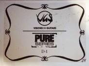 Label der von Steven Wilson signierten Gitarre (Visions in Guitars, Pure Series)