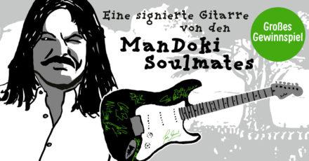 Gewinnspiel: Wir verlosen eine signierte E-Gitarre von Leslie Mandoki und seinen Soulmates – beendet ! –