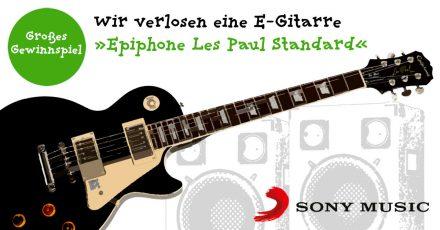 Gewinnspiel: Wir verlosen eine E-Gitarre »Epiphone Les Paul Standard« (Beendet!)