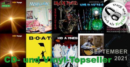 Die CD- und Vinyl-Topseller September 2021