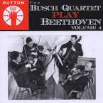 Busch Quartet play Beethoven Vol.4, CD