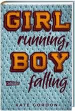 Girl running, boy falling Cover