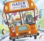 Hasen rasen mit dem Bus Cover