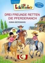 DREI FREUNDE RETTEN DIE PFERDERANCH / Cover