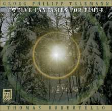 Telemann / robertello: Twelve Fantasies For Flute, CD
