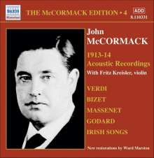 John McCormack-Edition Vol.4/The Acoustic Recordings 1913/14, CD