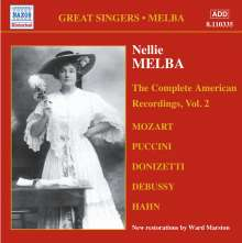 Nellie Melba - The Complete American Recordings Vol.2, CD