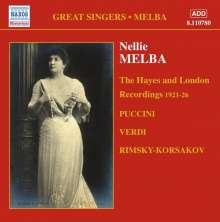 Nellie Melba - The Hayes and London Recordings (1921-1926), CD
