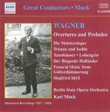 Richard Wagner (1813-1883): Ouvertüren, CD