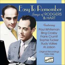Richard Rodgers & Lorenz Hart: Easy To Remember, CD