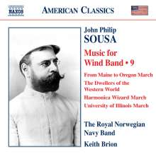 John Philip Sousa (1854-1932): Music for Wind Band Vol.9, CD