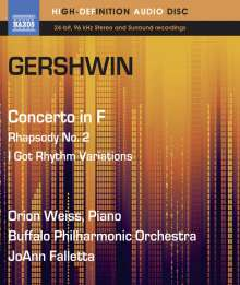 George Gershwin (1898-1937): Klavierkonzert in F, Blu-ray Audio