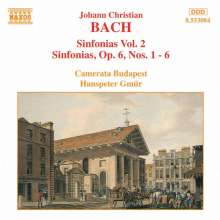Johann Christian Bach (1735-1782): Symphonien Vol.2, CD