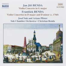 Frantisek Benda (1709-1786): Violinkonzerte in D & d, CD