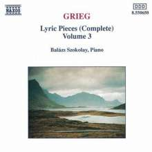 Grieg: Lyric Pieces - Vol.3, CD