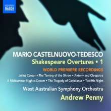Mario Castelnuovo-Tedesco (1895-1968): Shakespeare-Ouvertüren, CD