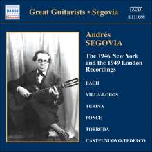 Andres Segovia - The 1946 New York & 1949 London Recordings, CD