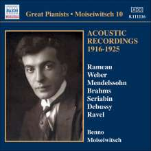 Benno Moiseiwitsch - Acoustic Recordings 1916-1925, CD