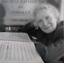 Barbara Nissman - Recital Favorites Vol.3, CD