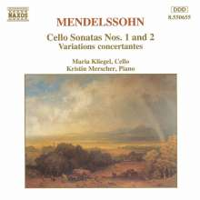 Felix Mendelssohn Bartholdy (1809-1847): Cellosonaten Nr.1 & 2, CD