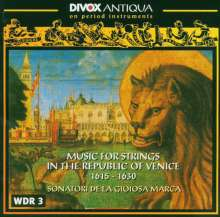 String Music in the Republic of Venice (1615-1630), CD