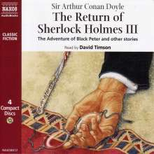 The Return of Sherlock Holmes III: The Adventure of Black Peter and Other Stories, CD
