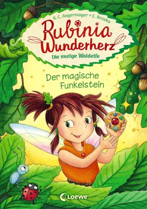 Cover von Rubinia Wunderherz, die mutige Waldelfe - Der magische Funkelstein