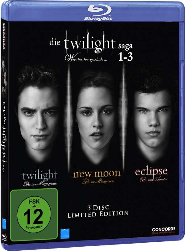 Twilight Saga 1 3 Twilight New Moon Eclipse Blu Ray