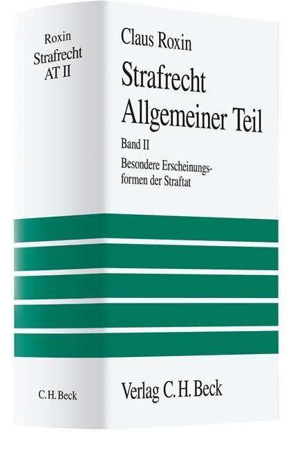 Claus Roxin Strafrecht Allgemeiner Teil 2 Buch Jpc