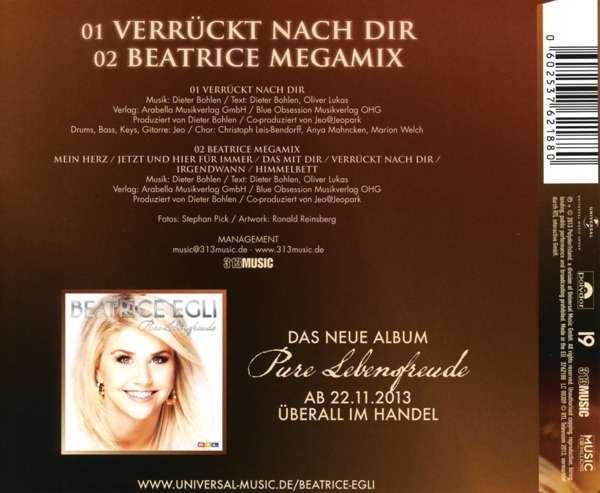 Beatrice egli verrückt nach dir 2 track auf maxi cd