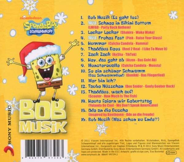 spongebob bobmusik das gelbe weihnachtsa cd jpc. Black Bedroom Furniture Sets. Home Design Ideas