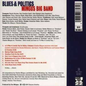 Mingus Big Band Blues And Politics Cd Jpc