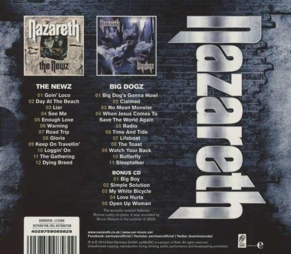 Nazareth The Newz Big Dogz Limited Edition 3 Cds Jpc