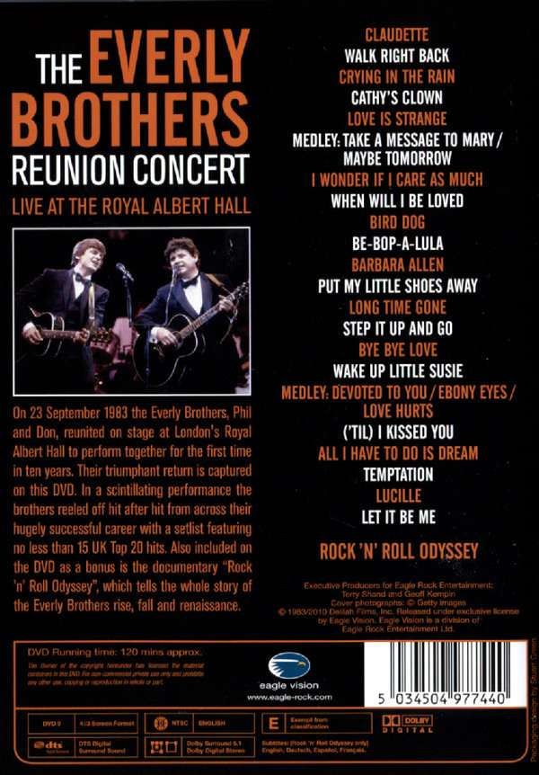 The Everly Brothers The Reunion Concert Live At The