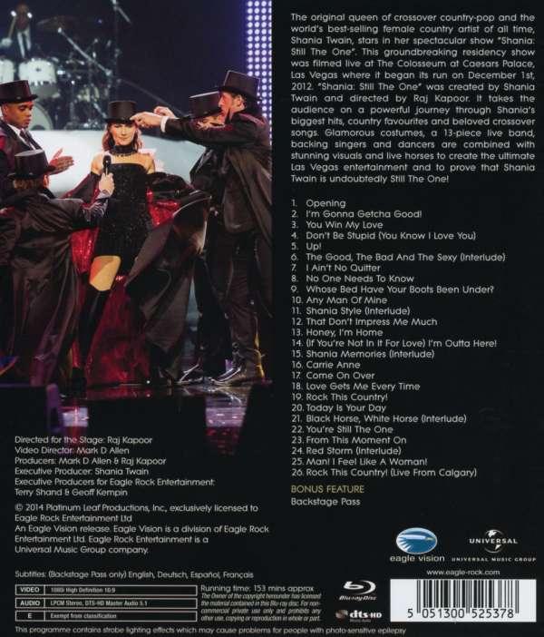 Shania Twain Still The One Live From Vegas 2012 Blu Ray
